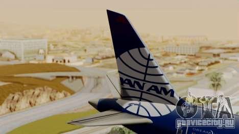 Boeing 787-9 Pan AM для GTA San Andreas вид сзади слева