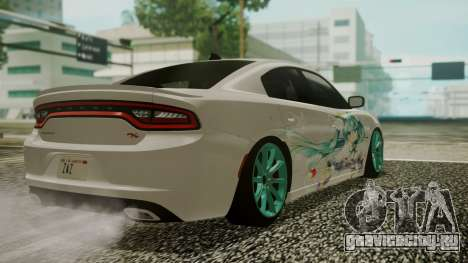 Dodge Charger RT 2015 Hatsune Miku для GTA San Andreas вид сбоку