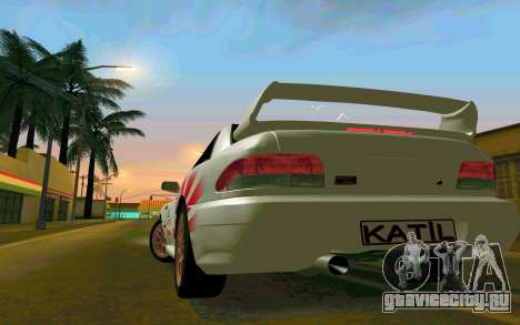 Subaru Impreza 22B STI - Itasha для GTA San Andreas вид справа