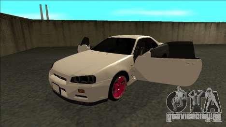 Nissan Skyline R34 Drift JDM для GTA San Andreas вид сзади