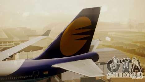 Boeing 747-400 Jat Airways для GTA San Andreas вид сзади слева