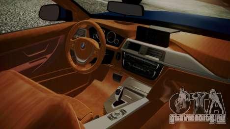 BMW M4 F32 Convertible 2014 для GTA San Andreas вид сзади слева