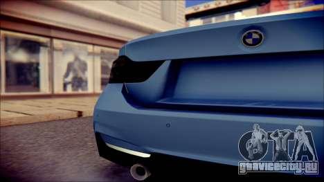 BMW 4 Series Coupe M Sport для GTA San Andreas вид сзади