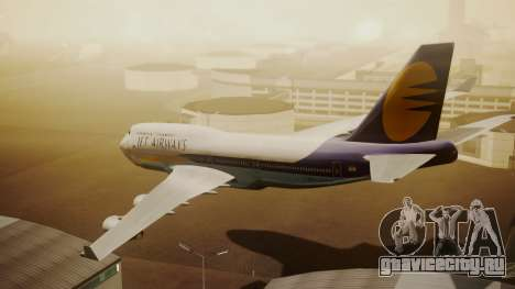 Boeing 747-400 Jat Airways для GTA San Andreas вид слева