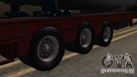 Overweight Trailer Stock для GTA San Andreas вид сзади слева