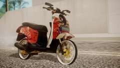 Honda Scoopy New Red для GTA San Andreas