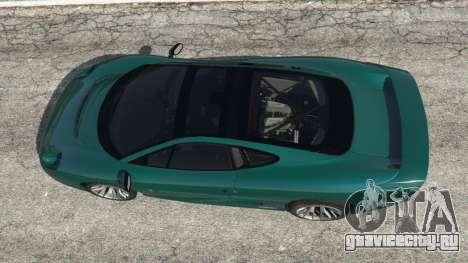 Jaguar XJ220 v0.8 для GTA 5 вид сзади