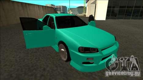 Nissan Skyline ER34 Drift для GTA San Andreas вид снизу