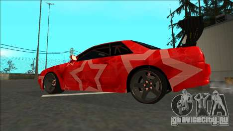 Nissan Skyline R32 Drift Red Star для GTA San Andreas вид слева