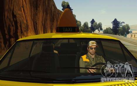 Albany Lurcher Taxi для GTA San Andreas вид сбоку