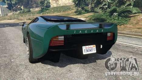 Jaguar XJ220 v0.8 для GTA 5 вид сзади слева