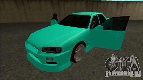 Nissan Skyline ER34 Drift для GTA San Andreas вид сбоку