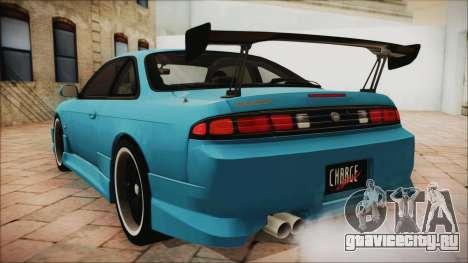 Nissan Silvia S14 Chargespeed Kantai Collection для GTA San Andreas вид слева