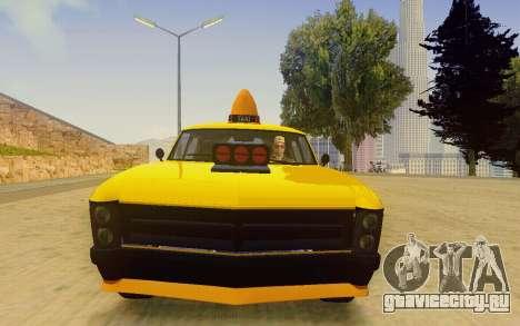 Albany Lurcher Taxi для GTA San Andreas вид сзади