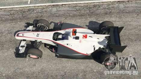 Sauber C29 [Педро Мартинес де ла Роса] для GTA 5 вид сзади