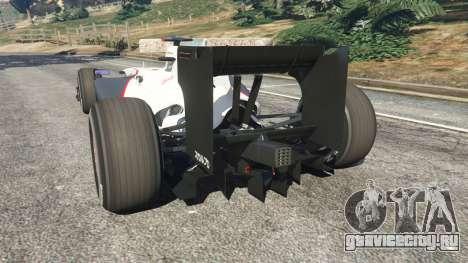 Sauber C29 [Педро Мартинес де ла Роса] для GTA 5 вид сзади слева