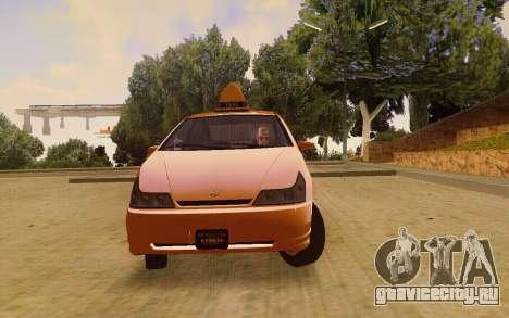 Karin Dilettante Taxi для GTA San Andreas вид справа