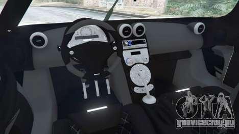 Koenigsegg CCX [Beta] для GTA 5 вид сзади справа