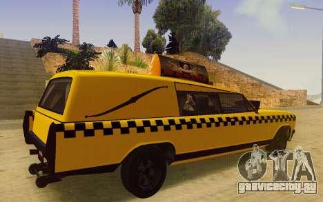 Albany Lurcher Taxi для GTA San Andreas вид сзади слева