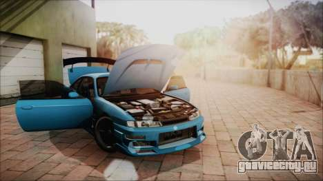 Nissan Silvia S14 Chargespeed Kantai Collection для GTA San Andreas вид изнутри