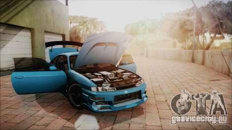 Nissan Silvia S14 Chargespeed Kantai Collection для GTA San Andreas вид изнутри
