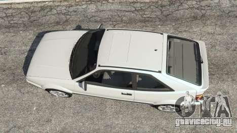 Volkswagen Corrado VR6 для GTA 5 вид сзади