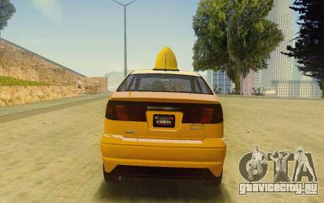 Karin Dilettante Taxi для GTA San Andreas вид слева