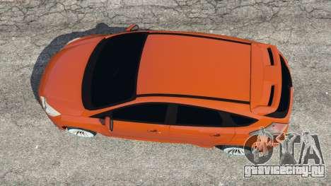 Ford Focus ST (C346) 2013 для GTA 5 вид сзади