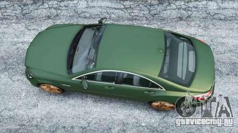 Mercedes-Benz CLS 63 AMG v1.0 для GTA 5 вид сзади