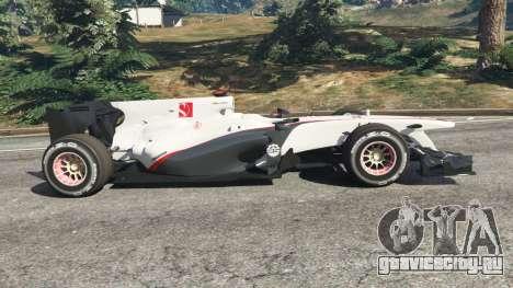 Sauber C29 [Педро Мартинес де ла Роса] для GTA 5 вид слева