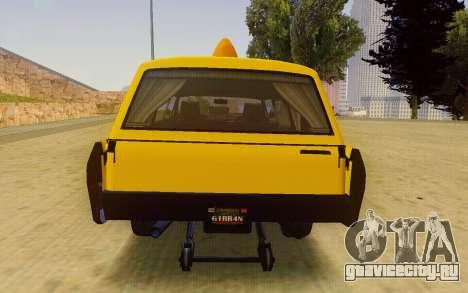 Albany Lurcher Taxi для GTA San Andreas вид справа