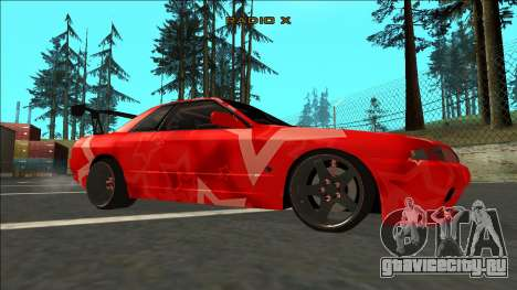 Nissan Skyline R32 Drift Red Star для GTA San Andreas вид справа