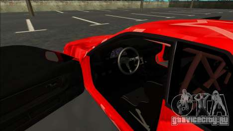 Nissan Skyline R32 Drift Red Star для GTA San Andreas вид изнутри