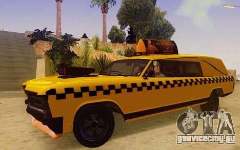 Albany Lurcher Taxi для GTA San Andreas вид слева