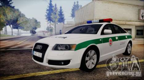 Audi A6 C6 Lithuanian Police для GTA San Andreas