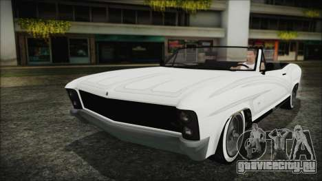 GTA 5 Albany Buccaneer Bobble Version для GTA San Andreas вид сзади