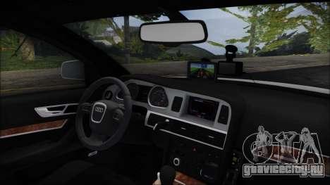 Audi A6 C6 Lithuanian Police для GTA San Andreas вид справа