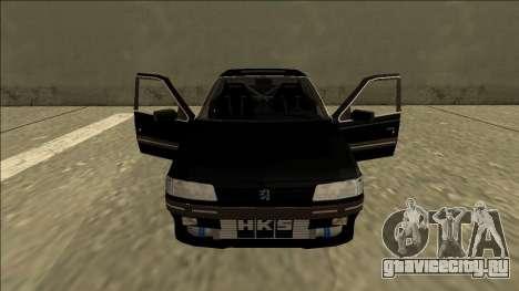 Peugeot 405 Drift для GTA San Andreas вид изнутри