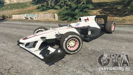 Sauber C29 [Педро Мартинес де ла Роса] для GTA 5 вид справа