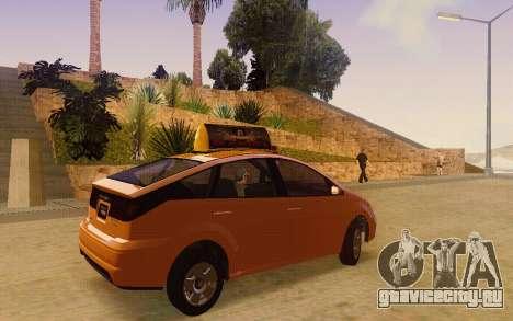 Karin Dilettante Taxi для GTA San Andreas вид сзади слева