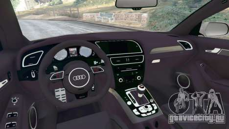 Audi RS4 Avant [LibertyWalk] для GTA 5 вид сзади справа