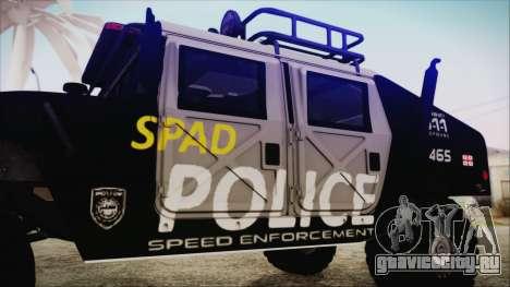 Hummer H1 Police для GTA San Andreas вид справа