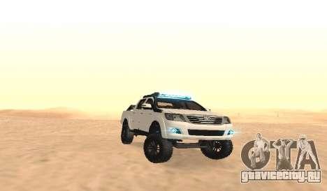 Toyota Hilux 4WD 2015 Rustica для GTA San Andreas вид сзади