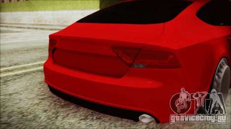 Audi A7 Messer v1 для GTA San Andreas вид сзади