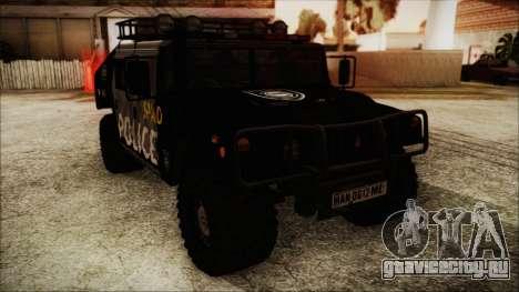 Hummer H1 Police для GTA San Andreas вид сзади слева