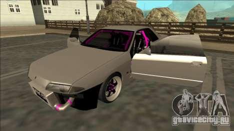 Nissan Skyline R32 Drift для GTA San Andreas вид снизу
