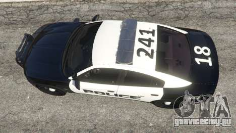 Dodge Charger 2015 LSPD для GTA 5 вид сзади