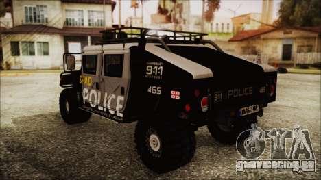 Hummer H1 Police для GTA San Andreas вид слева