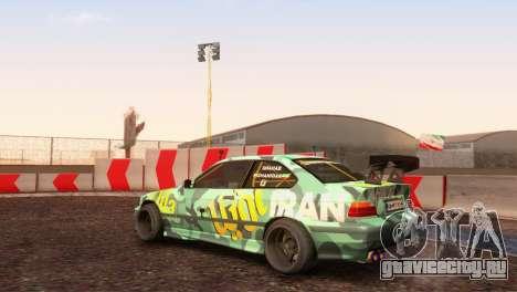 БМВ Е36 Полный Тюнинг для GTA San Andreas вид сзади слева
