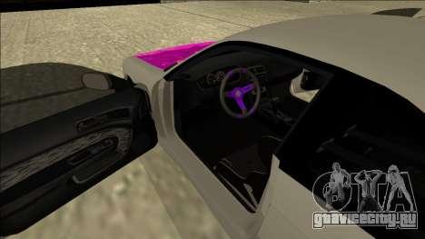 Nissan Silvia S14 Drift для GTA San Andreas вид изнутри